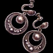 SALE Silver Mexico Earrings
