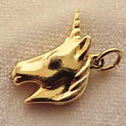 SALE 10kt Gold Unicorn Charm