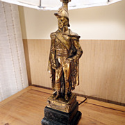 SALE Vintage Italian Borghese Figurine Lamp of Jean Lannes, Circa 1950