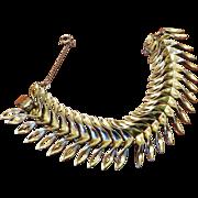 SALE Kramer Gold Tone Linked Bracelet