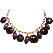 SALE Interesting Celluloid and Nut Necklace