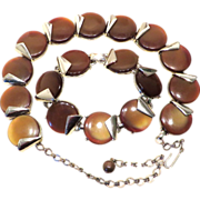 SALE Charel Thermoset Rootbeer Necklace and Bracelet Set