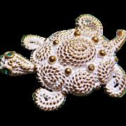 SALE Napier Figural Turtle Brooch