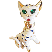 SALE Trifari Pet Series Cat Brooch - 1967