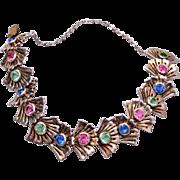 SALE Ralph De Rosa Sterling Crystal Bracelet - Rare