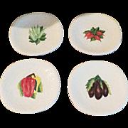 SALE Vintage Italy Majolica Plates - Set of 4
