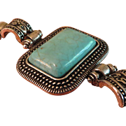 SALE Vintage Bracelet with Turquoise Colored Stone
