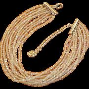 SALE Carolee 10-Strand Aurora Borealis Necklace