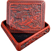 Asian Cinnabar Treasure Box