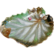 SALE Leaf Shaped Plate with Butterfly - Japan 1945-1952