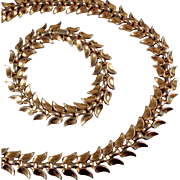 SALE Trifari Set of Necklace and Bracelet - Pat Pend, 1950