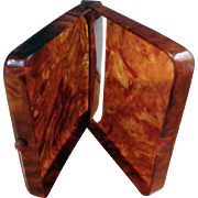 SALE Celluloid Faux Tortoise Shell Cigarette Case
