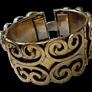 SALE Vintage Oscar Charlin Hinged Bracelet