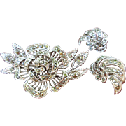 SALE Lisner Marcasite Brooch and Earrings Set