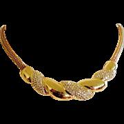 SALE Henkel Grosse Crystal Necklace