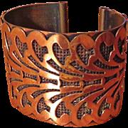 Wide Copper Cuff Bracelet