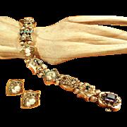 14K Gold Slide Bracelet and Earrings Set