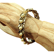 SALE Ralph DeRosa Sterling Vermeil Bracelet - 1940's