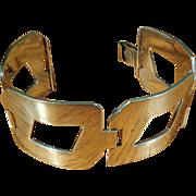 SALE Sterling Modernist Geometric Bracelet