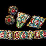 SALE Vintage Italy Micro Mosaic Set