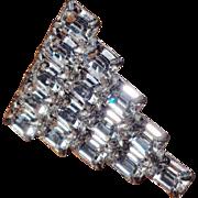 Brilliant 1930's Crystal Dress Clip