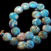 SALE Beautiful Teal Blue Jasper Necklace