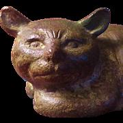 SALE Antique Japanese Bronze Cat Figure