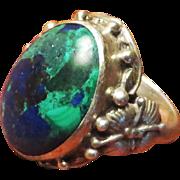 SALE Theodor Fahrner Sterling Azurite Malachite Ring