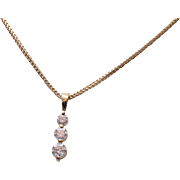 SALE 14kt Gold and Diamond Necklace With Appraisal