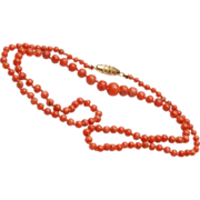"""SALE 22"""" Coral Necklace – Tied In Between"""