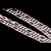 SALE Sterling Figaro Chain Marked KA 1772