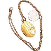 SALE JMH & Co Pin Stripe Locket  - Gold Filled