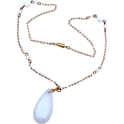 SALE Opalescent Glass Necklace