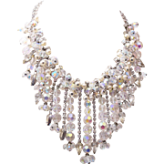 SALE D&E Drippy Faux Pearl, Rhinestone and Crystal Necklace