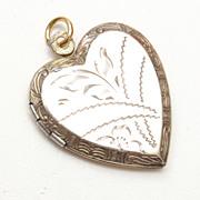 SALE Gold Washed Sterling Locket Etched Design