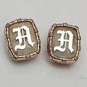 "SALE 1881 Gold Filled ""A or D"" Cuff Links"