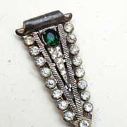 SALE Green Rhinestone Dress Clip