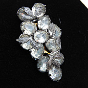 SALE Grape Cluster Clear Rhinestone Dress Clip