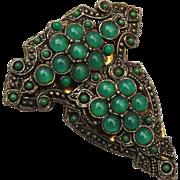 SALE Green Glass Ball Dress Clip