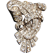 SALE Beautiful Pot Metal Rhinestone Dress Clip