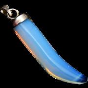 SALE Italian Cornicello Opalescent Glass Horn Charm or Pendant