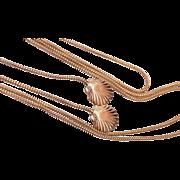 SALE Shell Gold Filled Belt or Lariat Necklace