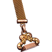 SALE AAG CO Gold Filled Watch Chain and Fob
