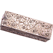 SALE 800 Silver Lipstick Holder with Mirror