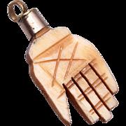 SALE Carved Bone Hand Charm