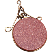 SALE PENDING Gold Stone Watch Fob or Charm