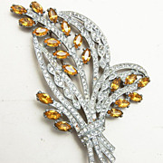 SALE Gorgeous Pot Metal Rhinestone Brooch