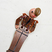 SALE Celluloid Articulated Military Buddy Brooch