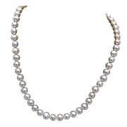 SALE 10kt Gold Clasp and Tied In Between Real Cultured Pearls