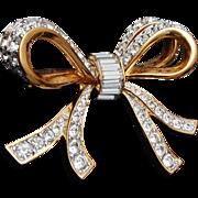 SALE Swarovski Crystal Bow Brooch - Excellent Condition